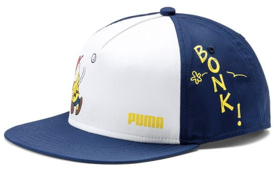 Puma dječja kapa sa šiltom PUMA x Peanuts FB Cap, tamno plava