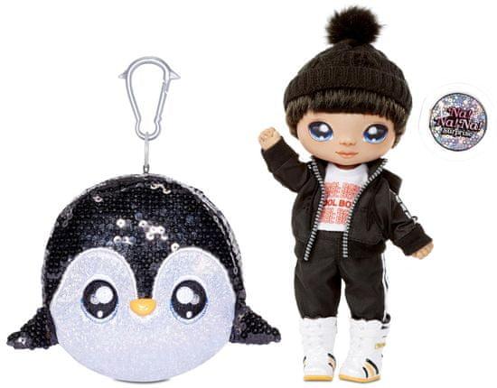 Na! Na! Na! Surprise lutka v bleščeči živali Sparkle Penguin, 2v1