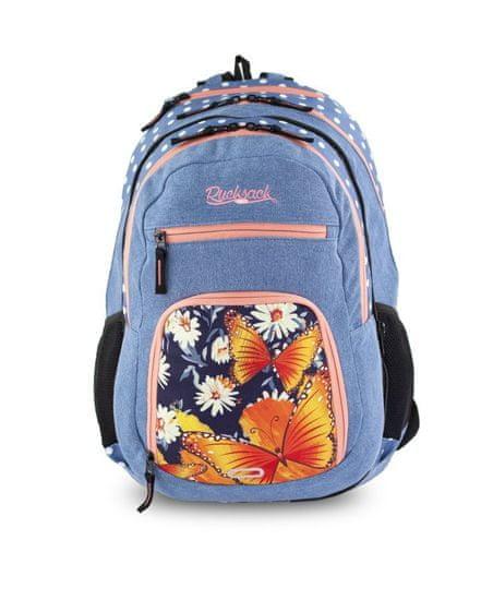 Rucksack Only nahrbtnik Doubler 2in1, Jeans Butterfly, 48 x 34 x 15 cm, 25+10 L