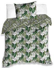 Tip Trade Bavlněné povlečení Monstera Zelené 140x200 + 70x90 cm