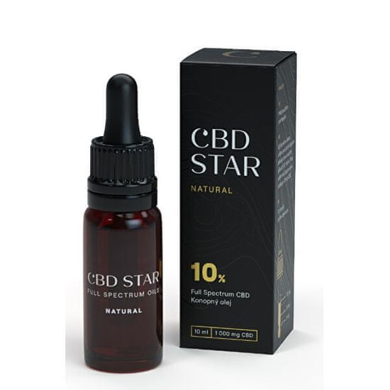 "CBD STAR CBD ""NATURAL"" OLEJ - 10% CBD 10 ml"