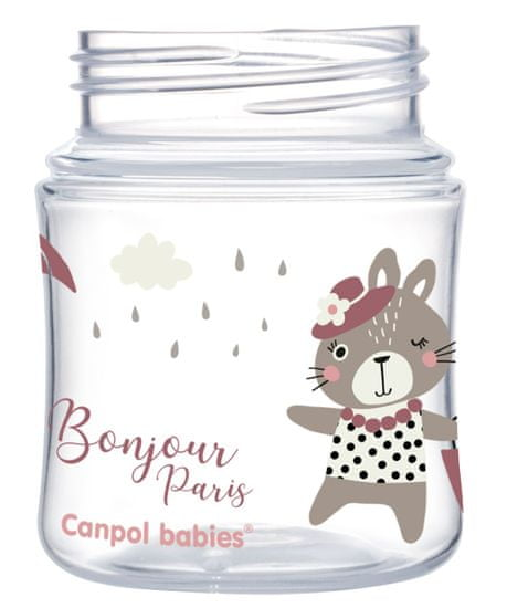 Canpol babies Bonjour Paris steklenica s širokim vratom, 120ml