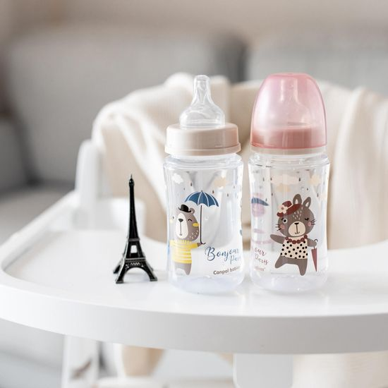 Canpol babies Széles szájú cumisüveg BONJOUR PARIS, 240ml