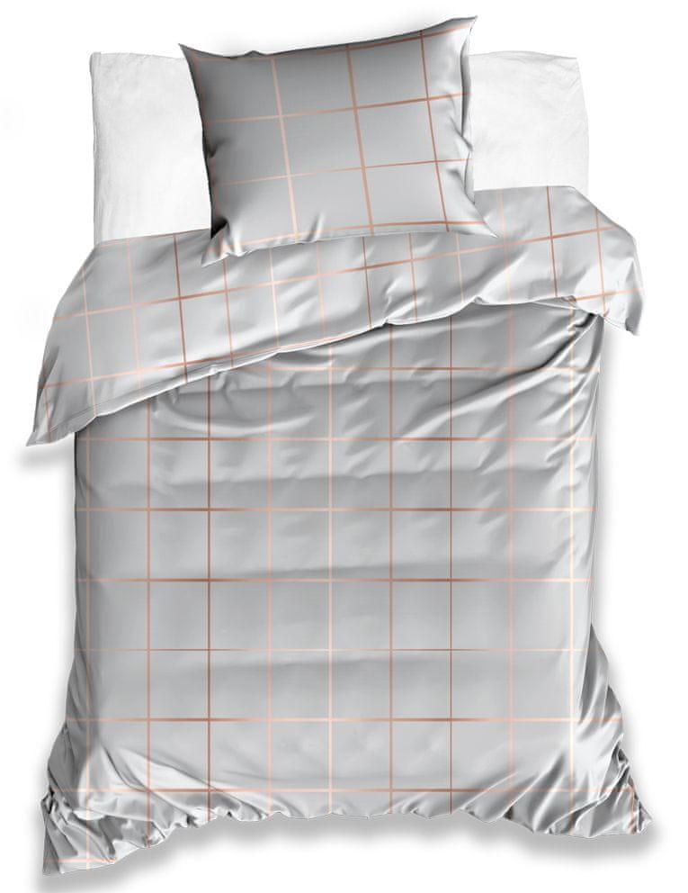 Tip Trade Saténové povlečení Golden Šedé - 140x200 / 70x90 cm