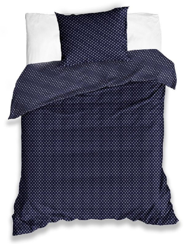 Tip Trade Saténové povlečení Starlet Švestkově Modré - 140x200 / 70x90 cm
