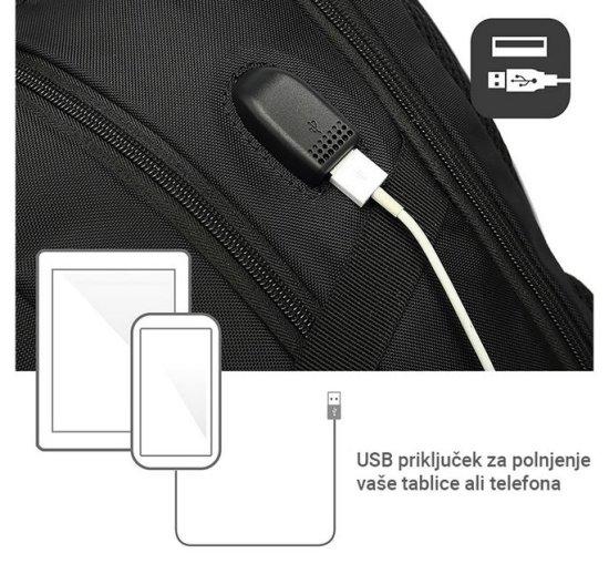 Ewent EW2526 nahrbtnik za prenosnik, 39.6 cm, USB vhod, črn