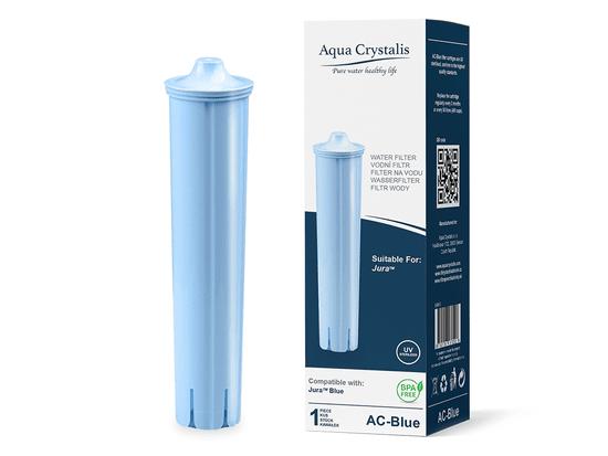 Aqua Crystalis Vodní filtr AQUA CRYSTALIS AC-BLUE do kávovarů značky JURA - kompatibilní JURA CLARIS BLUE 3ks