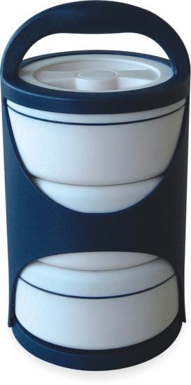 TCC Plus Design TCC-5000 termo menažna posuda, 3-dijelna, plavo-bijela