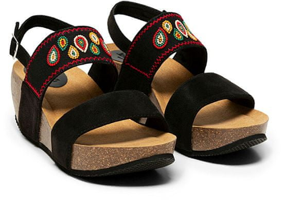 Desigual Ženski sandali Čevlji Leo Beads 21SSHA172000