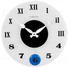 NEXTIME Designové nástěnné kyvadlové hodiny 8635 Nextime Milano Color 35cm