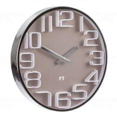 Future Time Designové nástěnné hodiny Future Time FT7010BR Numbers 30cm