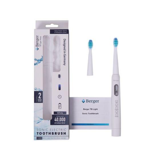 Berger Elektrický sonický zubní kartáček TB Light White