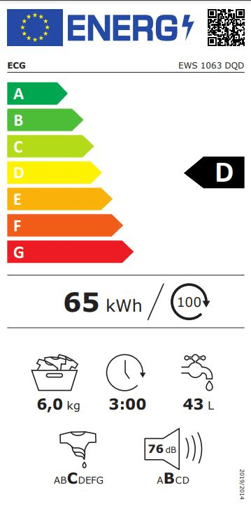 ECG automatická pračka EWS 1063 DQD