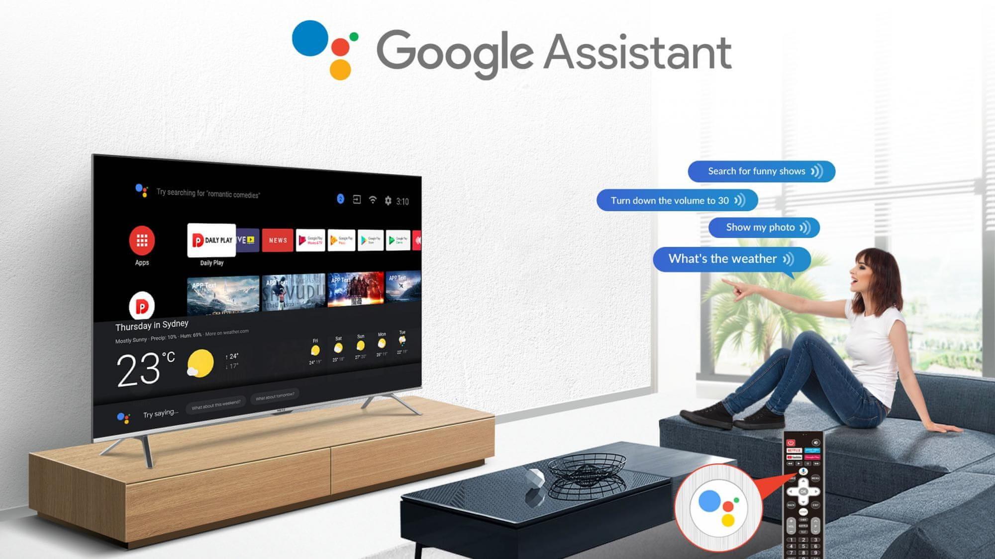 Metz UHD 4K smart tv televízió android TV 10 google assistant youtube netflix disney+ 2021
