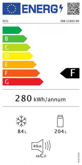 ECG chłodziarko-zamrażarka ERB 21800 WF