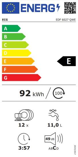 ECG myčka nádobí EDF 6027 QWE
