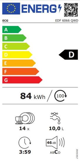 ECG myčka nádobí EDF 6066 QWD