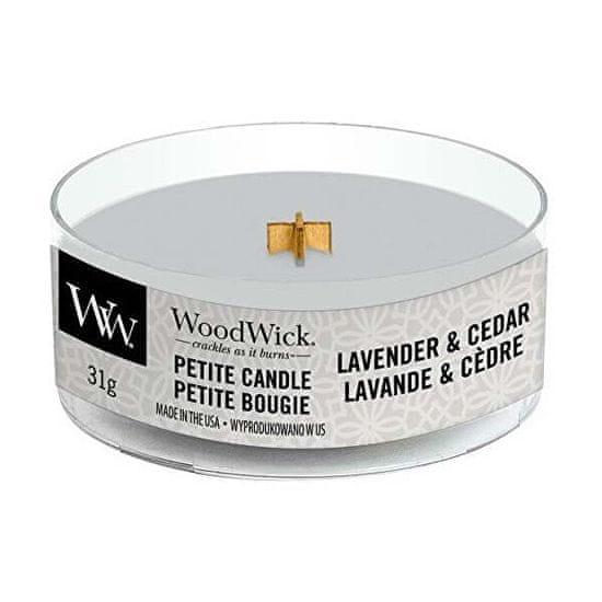 Woodwick Illatgyertya fa kanóccal Lavender & Cedar 31 g