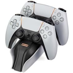 Snakebyte Twin:Charge 5 duální nabíjecí stanice PS5, bílý
