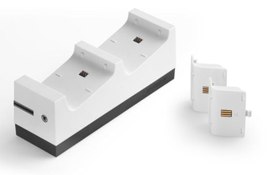 Snakebyte Twin:Charge X Xbox One Controller Charger + 2x800 mAh bílá baterie