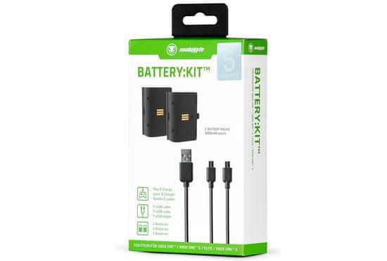 Snakebyte Battery:Kit baterie 2x800 mAh Xbox One Černá