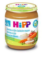 HiPP BIO Zelenina a ryža s kuracím mäsom - 6 x 125 g