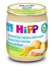 HiPP BIO Zemiaky a kukurica s morčacím mäsom - 6 x 125 g