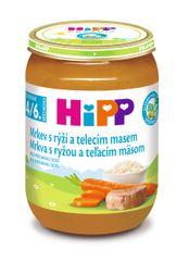HiPP BIO Mrkev s rýží a telecím - 6 x 190g