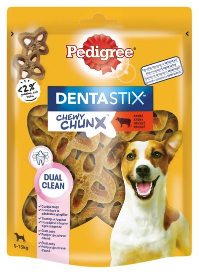 Pedigree pochoutka DentaStix Chewy Chunx hovězí MINI 5x68 g