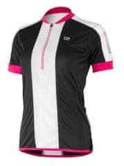 Etape Nelly ženski kolesarski dres, črna/roza, M