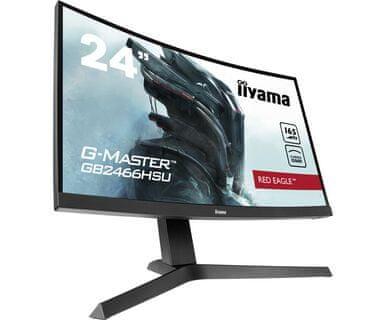 iiyama G-Master Red Eagle GB2466HSU-B1 VA FHD gaming monitor, ukrivljen