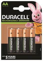 Duracell Dobíjecí baterie, AA, 4 x 2500 mAh, 10PP050049
