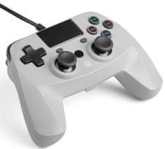 Snakebyte GAME:PAD 4 S przewodowy kontroler PS4 szary
