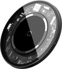 BASEUS Prosta magnetyczna ładowarka bezprzewodowa (kompatybilna z iPhone 12) WXJK-E02, biała