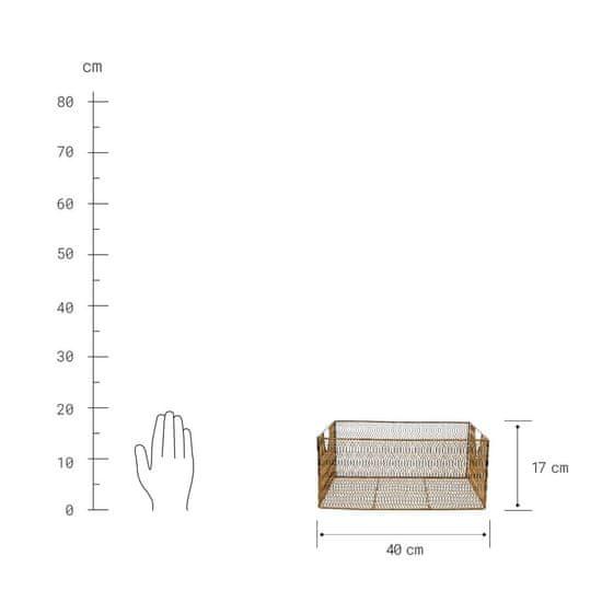 Butlers Drátěný úložný koš 40 cm