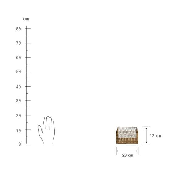 Butlers Drátěný úložný koš 20 cm