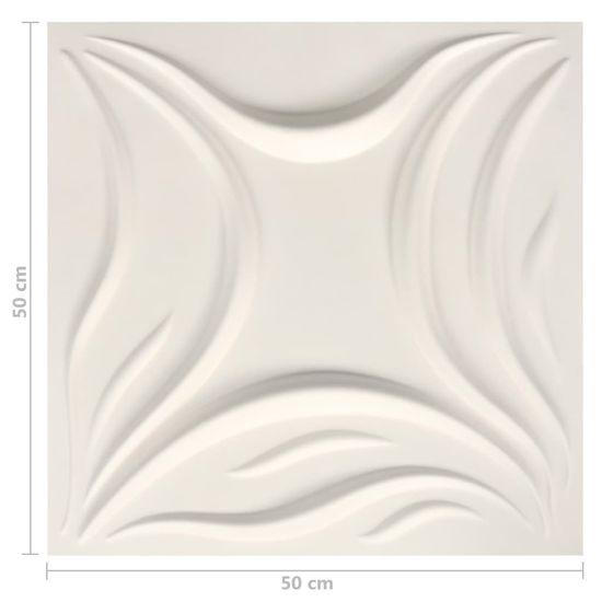 shumee 3D stenski paneli 12 kosov 0,5x0,5 m 3 m²