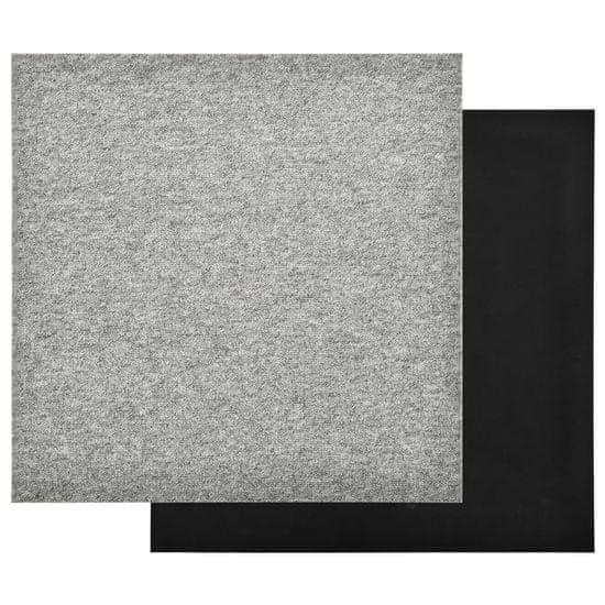 shumee Talna obloga preproga 20 kosov 5 m² 50x50 cm svetlo siva