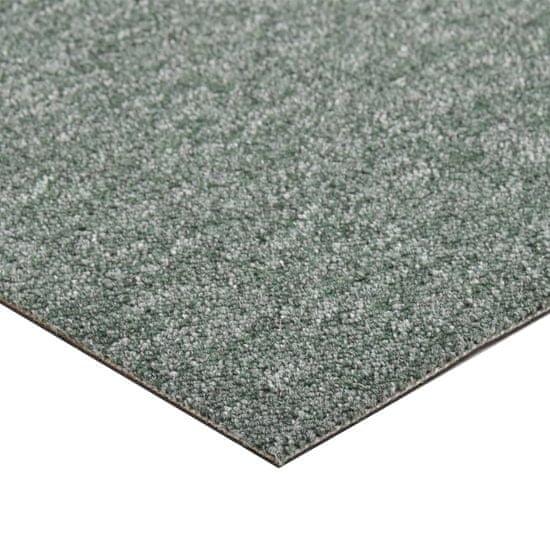 shumee Podłogowe płytki dywanowe, 20 szt., 5 m², 50x50 cm, zielone