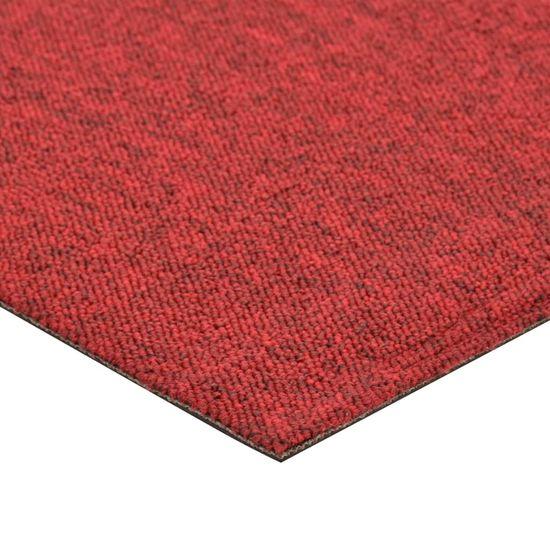shumee Talna obloga preproga 20 kosov 5 m² 50x50 cm rdeča