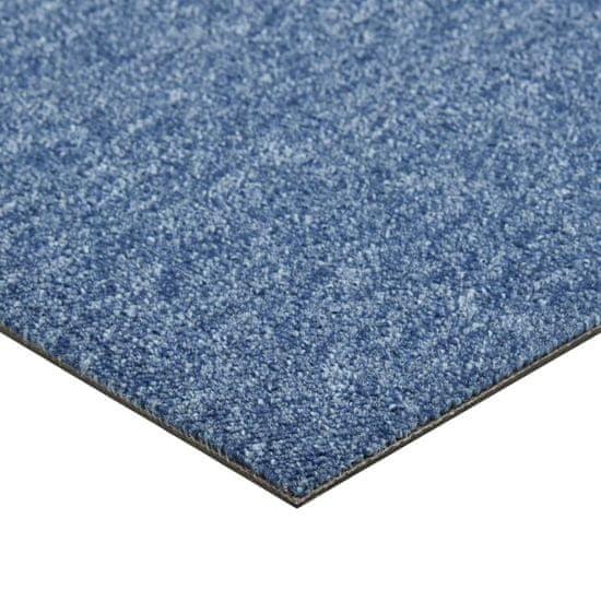 shumee Talna obloga preproga 20 kosov 5 m² 50x50 cm modra