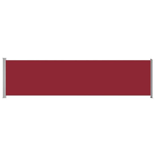 Greatstore Zložljiva stranska tenda za teraso 600x160 cm rdeča