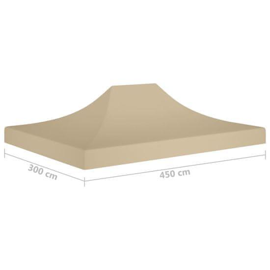 shumee Dach do namiotu imprezowego, 4,5 x 3 m, beżowy, 270 g/m²