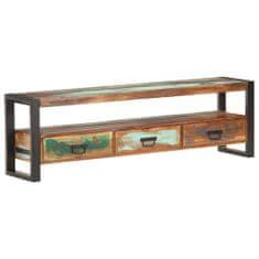 shumee TV stolek 150 x 30 x 45 cm masivní recyklované dřevo
