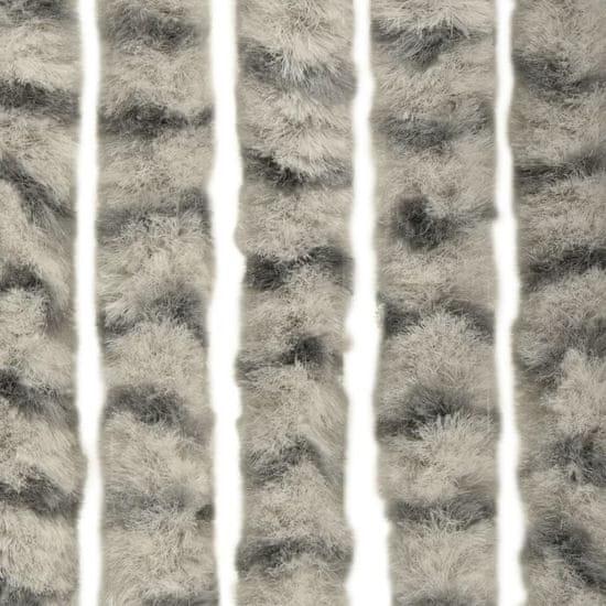 shumee Zavesa proti mrčesu svetlo in temno siva 56x185 cm šenilja