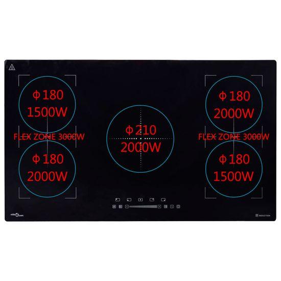shumee Vgradna indukcijska kuhalna plošča na dotik 3000 W 86 cm