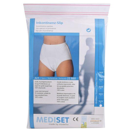 Mediset Inkontinenční dámské kalhotky s příjemnou bioaktivní distribuční vrstvou na nepropustné PU - fólii