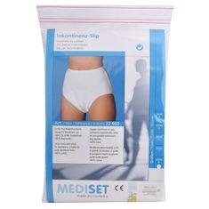 Mediset Inkontinenční dámské kalhotky s integrovanou sací vložkou z mikrofáze a dodatečnou nepropustnou PU - (Velikost 38/40)