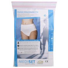 Mediset Inkontinenční dámské kalhotky se širokým měkkým pasem ingerovanou velkou sací vložkou z mikrofáze (Velikost 38/40)
