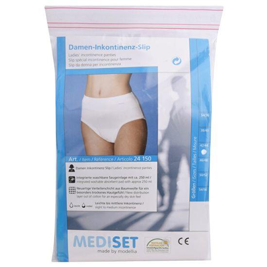 Mediset Inkontinenční dámské kalhotky se širokým měkkým pasem ingerovanou velkou sací vložkou z mikrofáze